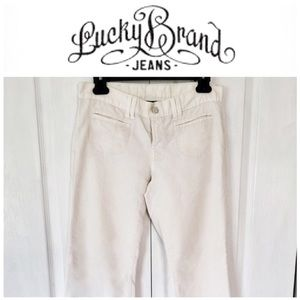 LUCKY BRAND wide leg white jeans